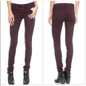 • Rag & Bone • The Skinny Jeans Plum Purple 26